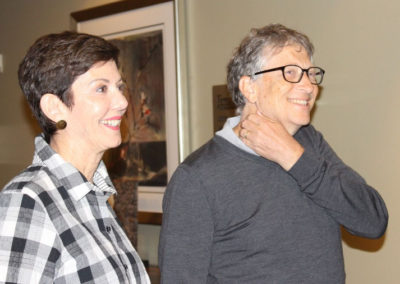 Jill Meyers and Bill Gates